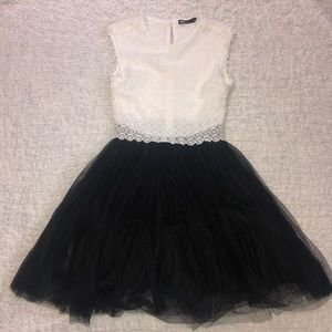 INA Black and White Dress